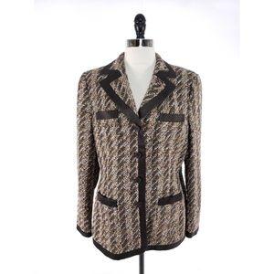 Rena Lange  Boucle Tweed Blazer Jacket